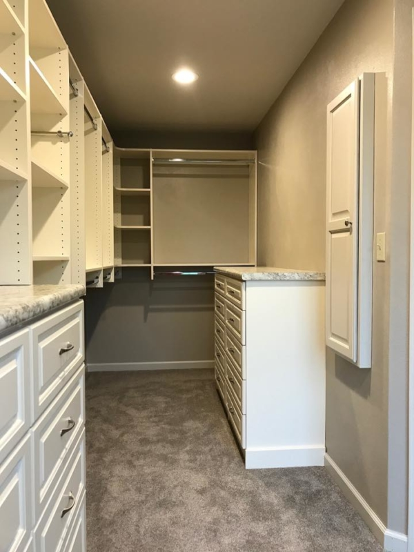 Carmel White Walk in Closet